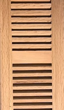 Vent Drop in Red Oak